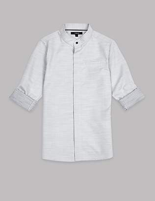 Autograph Pure Cotton Textured Shirt (3-16 Years)