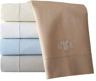 Queen Marcus Collection 400 Thread-Count Dot Sheet Set