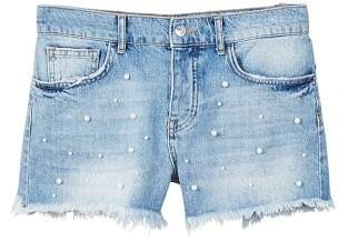MANGO Pearl denim short