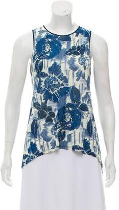 Jean Paul Gaultier Soleil Floral Printed Sleeveless Top