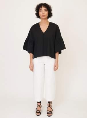 Beaumont Organic RITA-MAE Cotton Poplin Top in Black