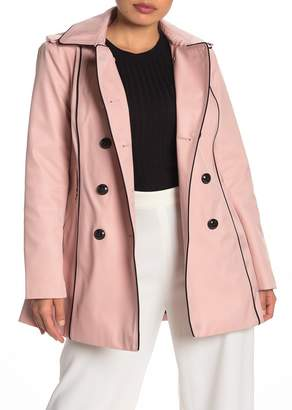 GUESS Double Breasted Hooded Trench Coat