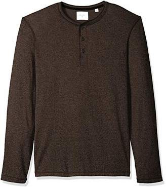 Billy Reid Men's Long Sleeve Mouline Henley