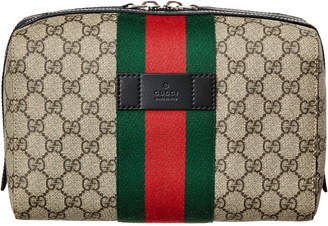 Gucci Gg Supreme Canvas & Leather Dopp Kit