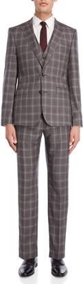 Herbie Frogg 3-Piece Grey Triple Windowpane Suit