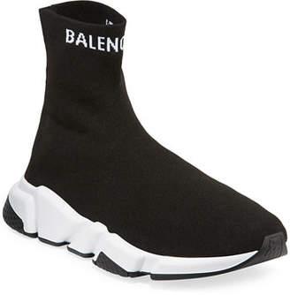 Balenciaga Men's High-Top Speed Sneaker