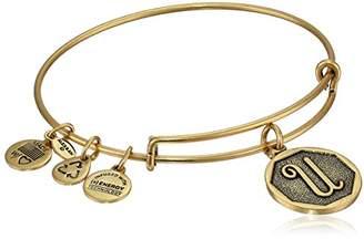 Alex and Ani Rafaelian Gold-Tone Initial B Expandable Wire Bangle Bracelet