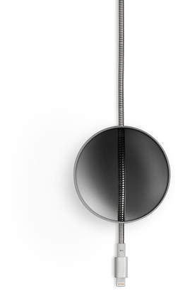 Tom Dixon Native Union Limited Edition Lightning Dome Cable - Brushed Silver