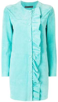 Simonetta Ravizza ruched trim coat