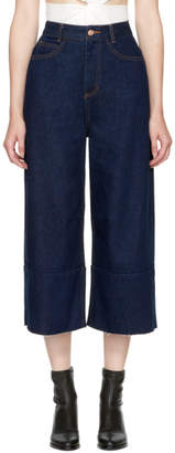 Sjyp Blue Wide Cut Jeans