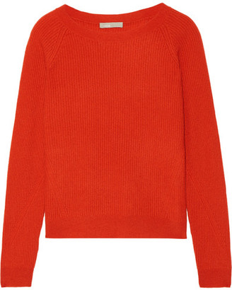 Vince - Ribbed Cashmere Sweater - Papaya $320 thestylecure.com