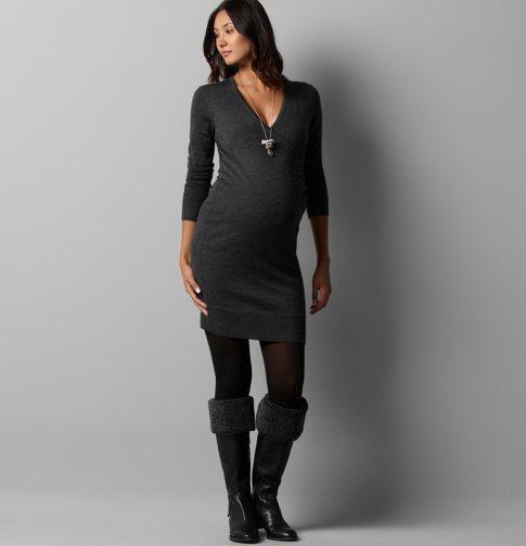 LOFT Maternity Faux Wrap Sweater Dress
