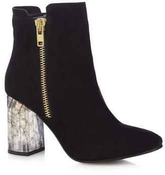 Faith - Black 'Boston' High Ankle Boots