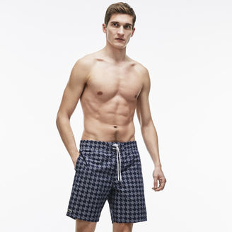 Men's Long Cut Houndstooth Print Swimming Trunks $95 thestylecure.com