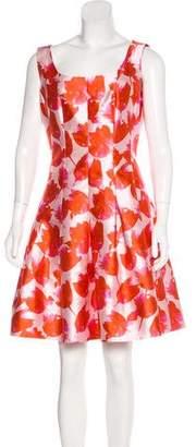 Oscar de la Renta Silk Patterned Dress