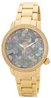 Porsamo Bleu Women's Evelyn Topaz Stone Watch, 38mm