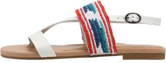 UGG Womens Verona Serape Beads Sandals White Wall