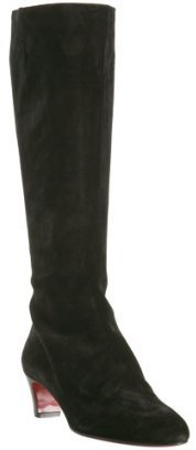 Christian Louboutin black suede 'Bourge' tall boots