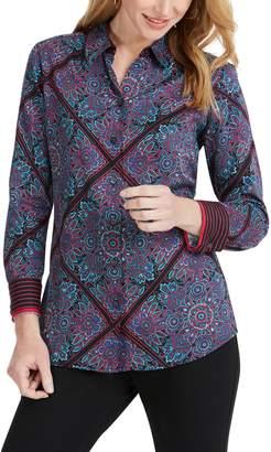 Foxcroft Addison Diamond Paisley Shirt