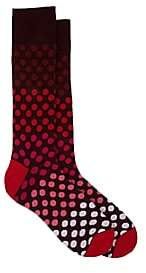 Paul Smith Men's Dot-Print Cotton-Blend Mid-Calf Socks - Purple Pat