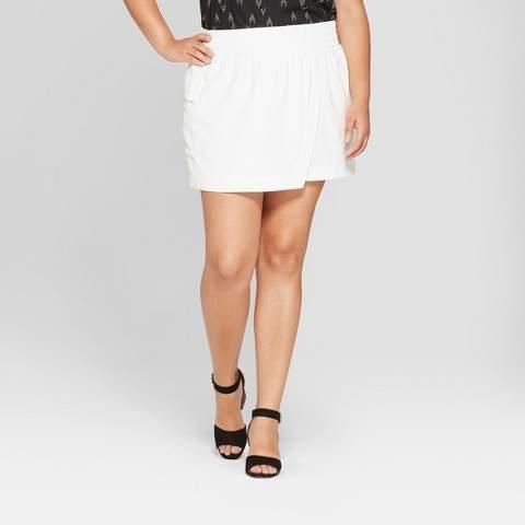 Women's Plus Size Asymmetrical Skort