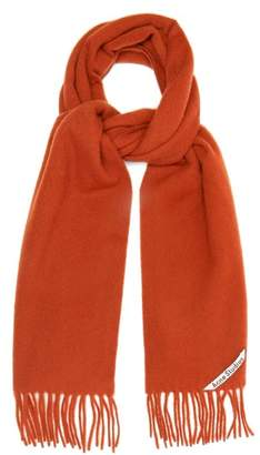 Acne Studios Canada Narrow Skinny Wool Scarf - Womens - Red