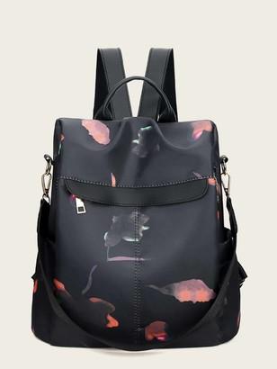 Shein Zip Around Back Detail Backpack