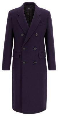 Fashion Show Capsule coat in melange virgin wool with cashmere