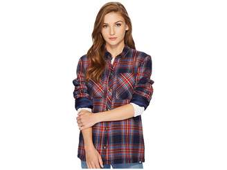 Volcom Plaid About You Long Sleeve Women's Clothing