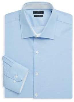 Tailorbyrd Trim-Fit Mini Dot Cotton Dress Shirt