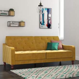 Novogratz Vintage Tufted Velvet Split Back Sofa Bed, Multiple Colors