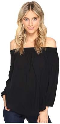 Splendid Rayon Voile Off Shoulder Top Women's Clothing
