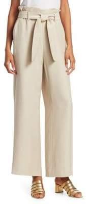 Maje Paperbag Waist Textured Pants