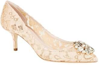 Dolce & Gabbana Embellished Lace Rosa Pumps 65