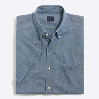 J.Crew Factory Slim short-sleeve flex chambray shirt