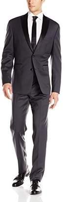 Vince Camuto Men's Slim Fit Peak Lapel Charcoal Tuxedo