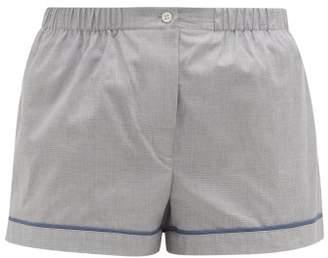Araks Tia Cotton Pyjama Shorts - Womens - Light Blue