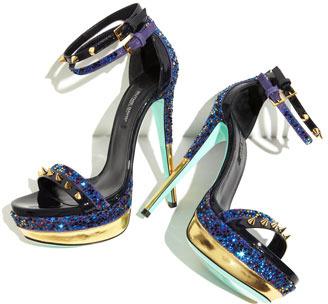 Ruthie Davis Sea Studded Platform Sandal, Capri Blue