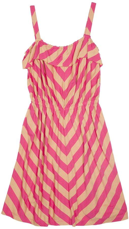 Pink Chicken Suzie Tank Dress - Fandango Pink/Sand-7/8Y