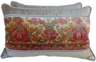 One Kings Lane Vintage Printed Velvet Pillows