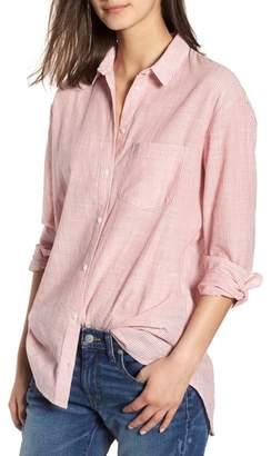 Madewell Stripe Oversize Ex-Boyfriend Shirt