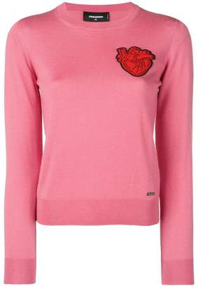 DSQUARED2 heart patch sweater