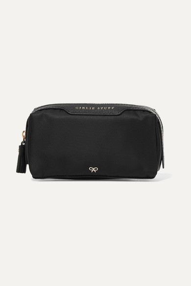 Anya HindmarchAnya Hindmarch - Girlie Stuff Leather-trimmed Shell Cosmetics Case - Black