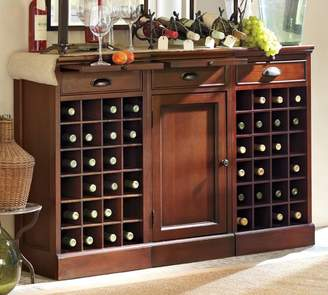Pottery Barn Modular Bar Buffet with 2 Wine Grid Bases & 1 Cabinet Base
