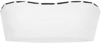 JADE SWIM Chain Reaction Bandeau Bikini Top $120 thestylecure.com