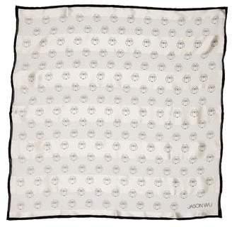 Jason Wu Owl Print Silk Scarf