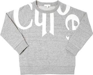Chloé Logo Print Cotton Sweatshirt