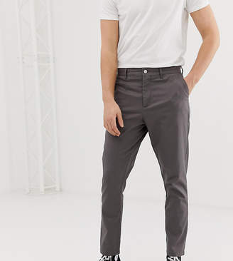tapered chinos in grey