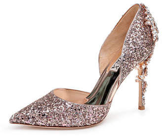 Badgley Mischka Vogue III Glitter Pumps