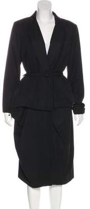 Oscar de la Renta Wool Belted Coat w/ Tags